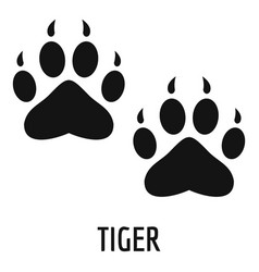 tiger step icon simple style vector image