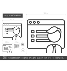 User interface line icon vector