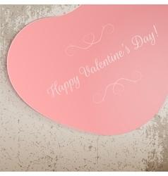 Valentines Day big pink festive Heart Banner vector