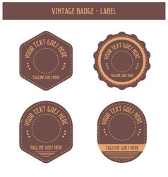 Vintage badge - label vector image