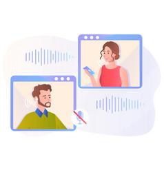 Voice message concept vector