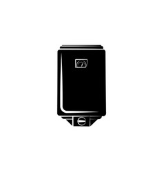 water boiler icon black on white background vector image