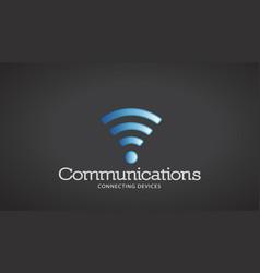Wifi communications logo vector
