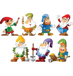 Funny Gnomes vector image vector image