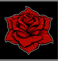 rose color version vector image
