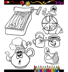 sayings set for coloring book vector image vector image