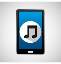 social media mobile music icon vector image