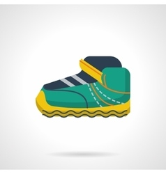 Sport sneaker flat color design icon vector image