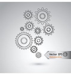 Wheel of design for industrial concept vector image vector image