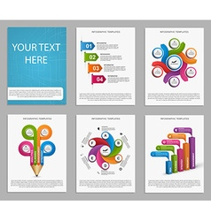 Collection Infographics for business brochures and vector image vector image