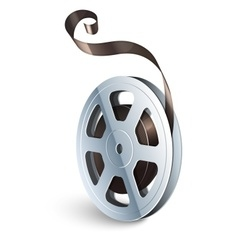 Film tape cinematography video vector image vector image