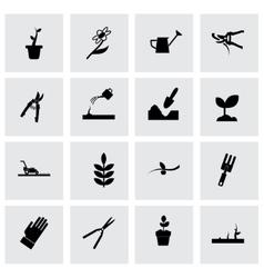 gardening icon set vector image