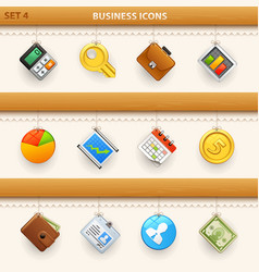 hung icons - set 4 vector image vector image