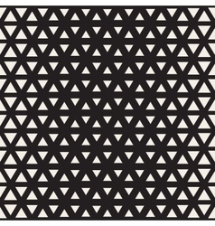 Seamless Black And White Triangle Halgtone vector image