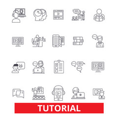 Tutorials learning help guidetrainingshowing vector