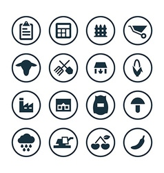 agriculture farm icons universal set vector image vector image