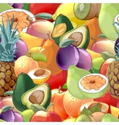 Cocktail fruits and berries seamless pattern vector image