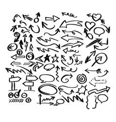 doodle arrow collection sketch vector image