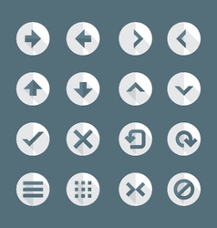flat style various navigation menu buttons icons vector image vector image