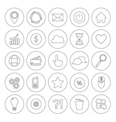 internet line symbols for web site design isolated vector image