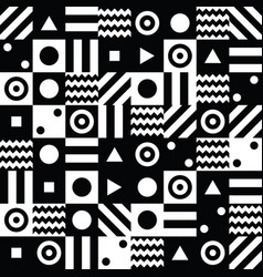 Abstract background with black and white elements vector