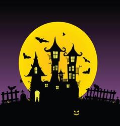 castle with bats five vector image