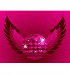 disco ball and wings vector image