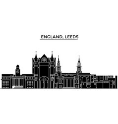 england leeds architecture city skyline vector image