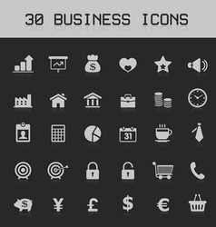 Light business design element icon set vector image vector image