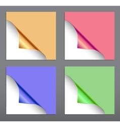 Paper corner set vector image vector image