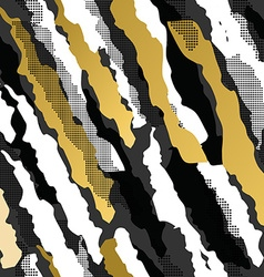 Retro 80s 90s abstract shape pattern gold fancy vector image