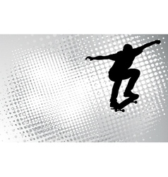 Skateboarder on the abstract background vector