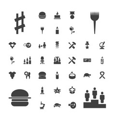 37 one icons vector