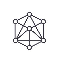 3d cube molecule icon sig vector
