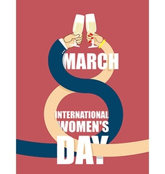 8 March International womens day Man and woman in vector image
