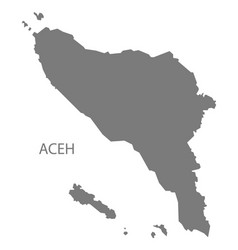Aceh indonesia map grey vector