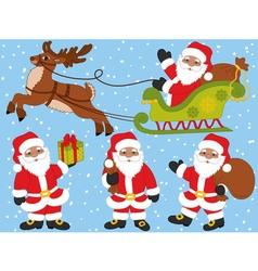 African American Santa Claus Set vector