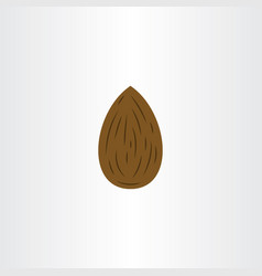almond logo icon symbol element vector image