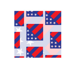 america flag seamless pattern vector image