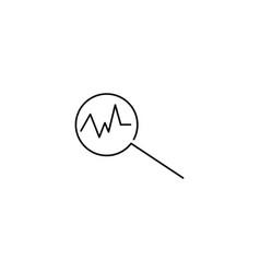 analytics linear icon vector image