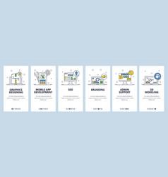 App development graphic design branding admin vector