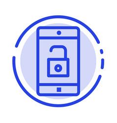 application mobile mobile application unlock blue vector image