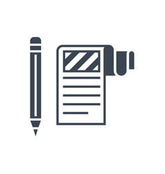 Article submission glyph icon vector