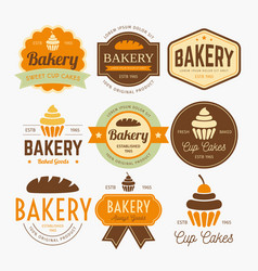 bakery labels design vector image