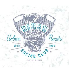 Biker club emblem for t-shirt vector