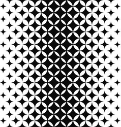 Black and white curved star pattern vector image