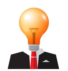 business idea symbol with bulb and suit vector image