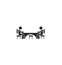 business meeting black concept icon vector image