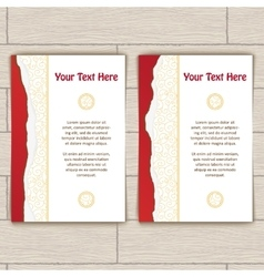 Cards with Gold Stamping vector image