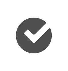 Check icon approved tick sign vector